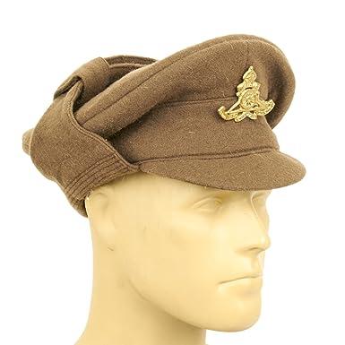 British WWI Gor Blimey 1915 Winter Forage Trench Wool Cap