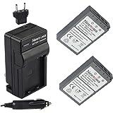 Newmowa BLS-1 Battery (2-Pack) and Charger kit for Olympus PS-BLS1, BLS-1 Batteries and Olympus PEN E-PL1, E-PM1, EP3, EPL3, Evolt E-420, E-620, E-450, E-400, E-410 Digital SLR Cameras
