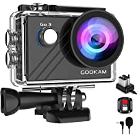 GOOKAM Go 3 Action Cam 4K WiFi actiecamera 20MP onderwatercamera Waterdichte 40M EIS sportcamera met externe microfoon 2…