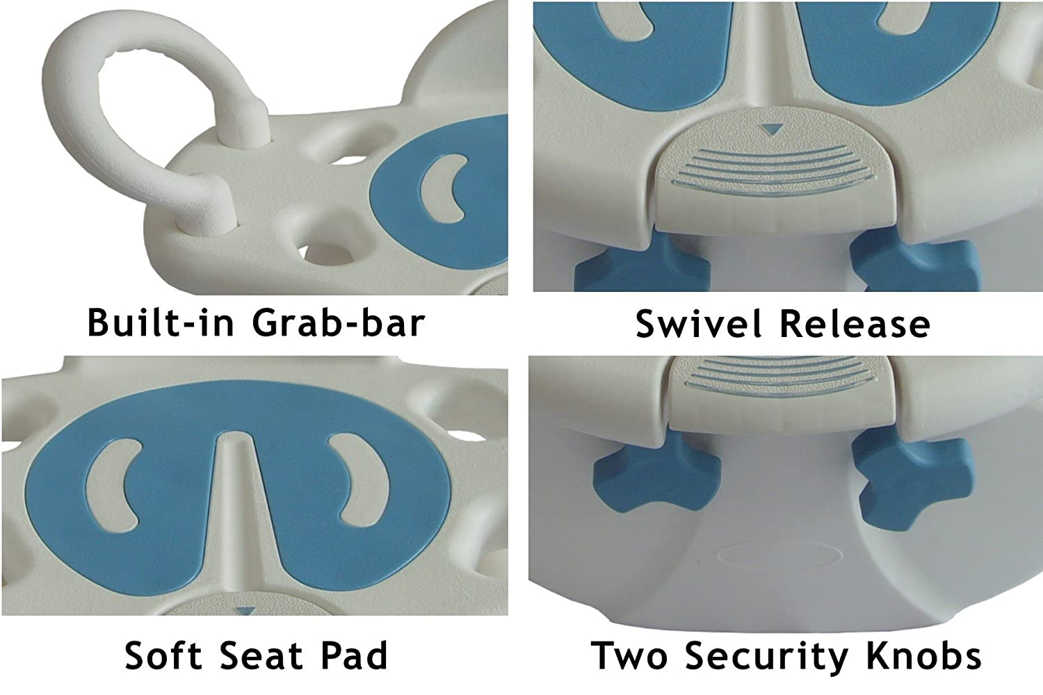 Amazon.com: Tub-Mounted Swivel Bath Seat, Elderly Safety Transfer ...