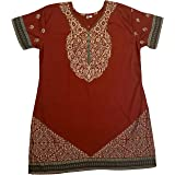 BombayFashions Indian Tunic Top Womens Kurti Printed Blouse India Clothing