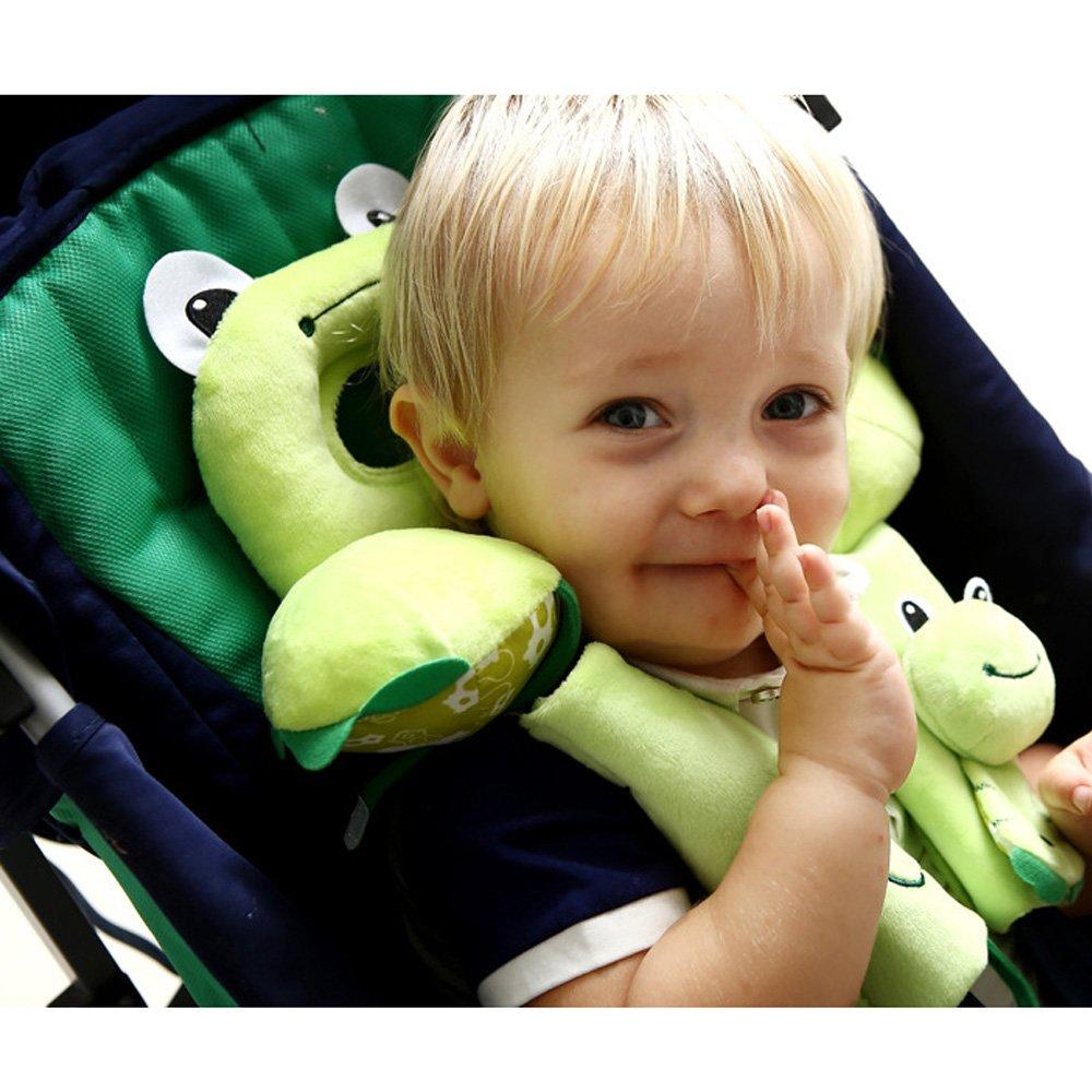 Frosch Auto-Sitzkissen neugeborene Baby-Autositz Sicherheit U-Form Soft-Ged/ächtnis-Kissen Nackenschutz Kopfpolster Toy Travel Cute Animal