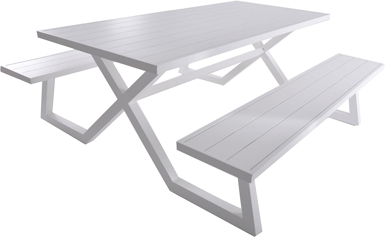 Stainless Steel Bathroom Vanity Cabinet, Amazon Com Vivere Bdat Wh Aluminum Banquet Picnic Table White Garden Outdoor