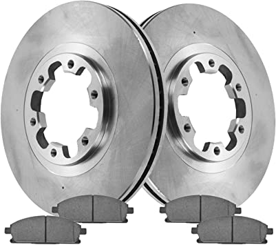 Brake Rotors FRONT+REAR ELINE DRILLED SLOTTED Toyota AVALON 2000-2004