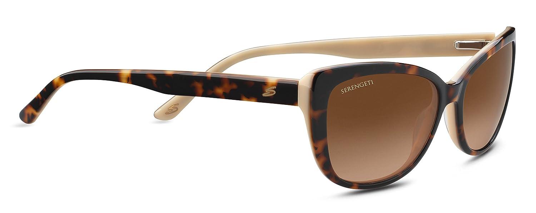 Shiny Dark Tortoise Bolle Serengeti Eyewear 8629 Serengeti Sophia Beige Polarized Drivers Gradient
