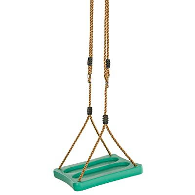 Swingan - One of A Kind Standing Swing with Adjustable Ropes - Fully Assembled - Green: Toys & Games