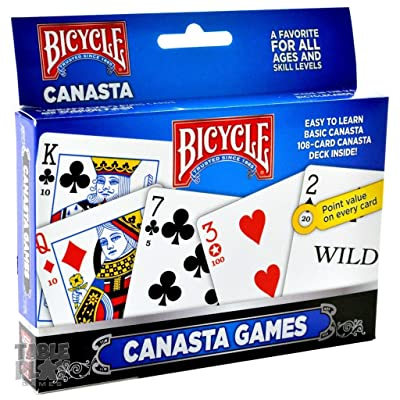 Bicycle 2-Pack Canasta Card Games Standard (Limited Edition): Toys & Games
