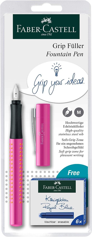 Penna stilografica per mancini e destrorsi Faber-Castell 140991-F/üller Grip 2010 colori assortiti
