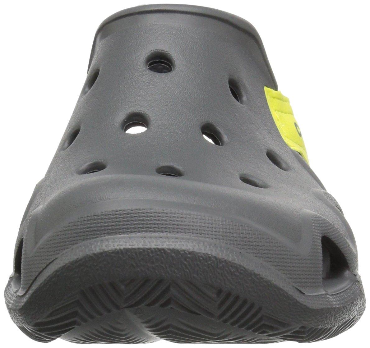 Crocs Unisex-Kids Swiftwater Wave Flat Sandal, Slate Grey/Tennis Ball Green, 13 M US Little Kid by Crocs (Image #4)