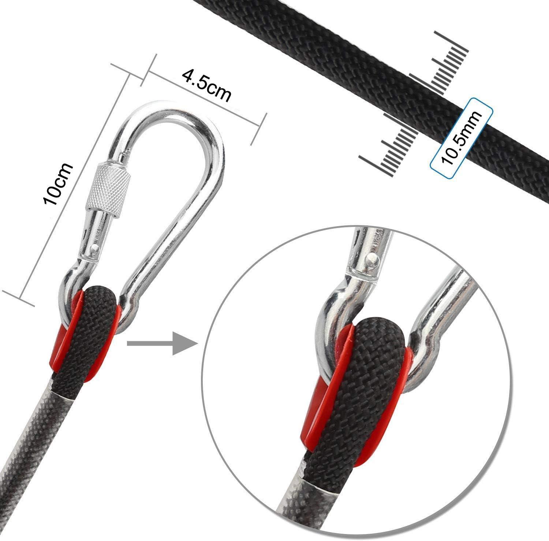 Cuerda de escalada para exteriores, 20 m de longitud, cuerda de nylon de seguridad de cordón de alta resistencia de extracción de 1200 kg, cuerda de ...