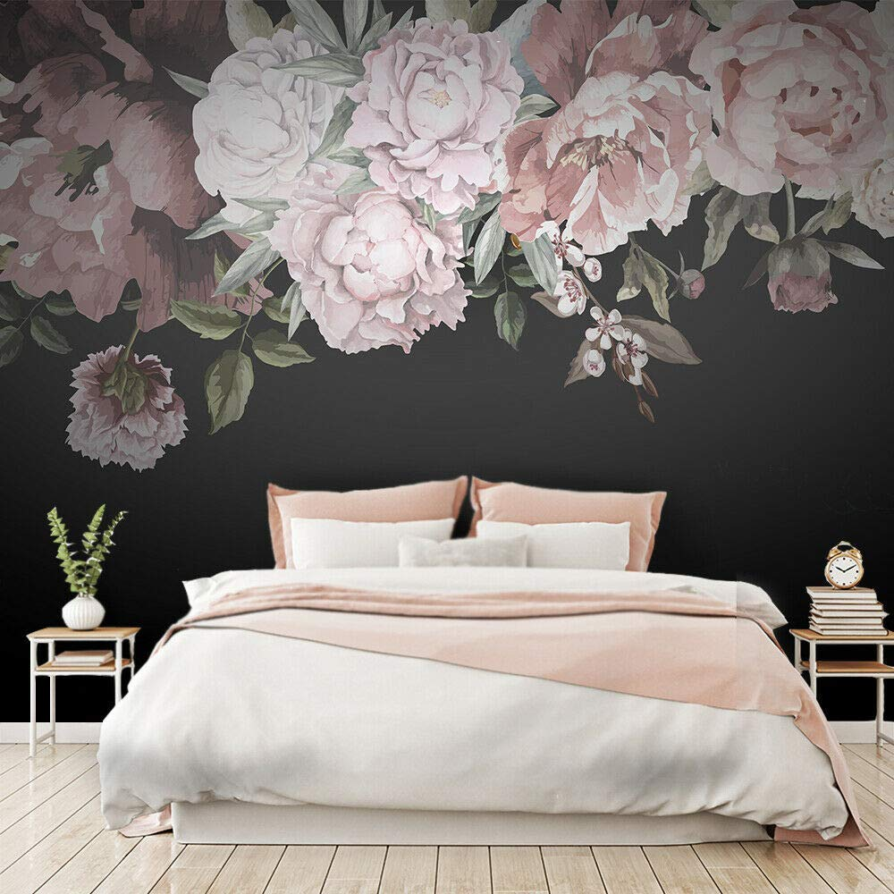 Amazon Com Watercolor Peony Wallpaper Peony Flowers Wall Mural