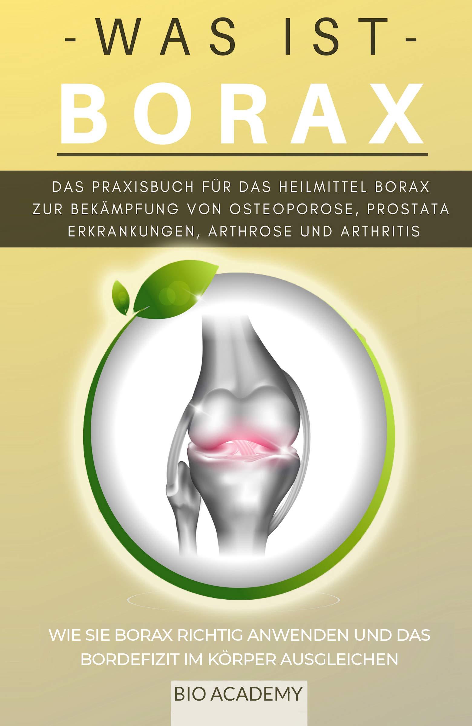 Was Ist Borax   Das Praxisbuch Für Das Heilmittel Borax Zur Bekämpfung Von Osteoporose Prostata Erkrankungen Arthrose Und Arthritis  Wie Sie Borax Richtig Anwenden Und Das Bordefizit Ausgleichen