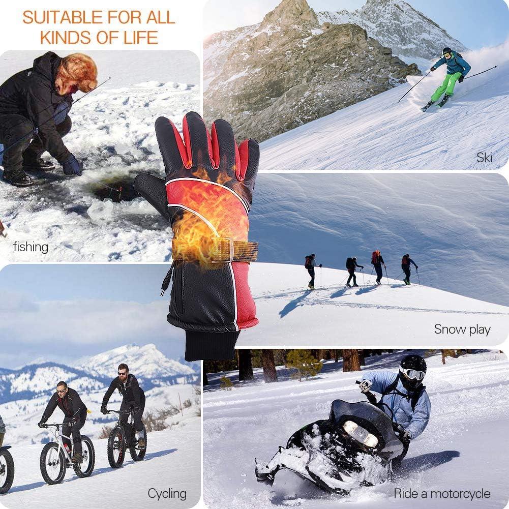 pour Homme et Femme pour Sports de Plein air Ski Randonn/ée YAOAWE Gants Chauffants /à Piles Rechargeables pour Moto et v/élo Patinage Gants Chauds pour /écran Tactile