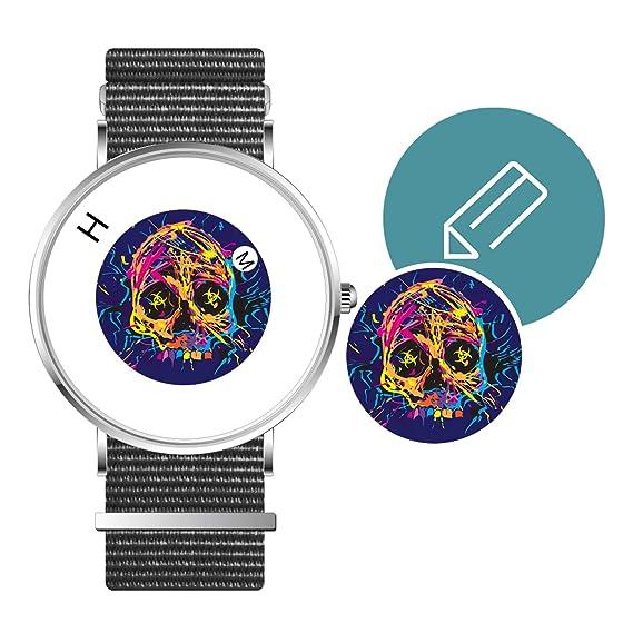 Reloj de Pulsera Unisex Personalizado con Esfera de 40 mm con Imagen Personalizable DIY Zafiro Cristal