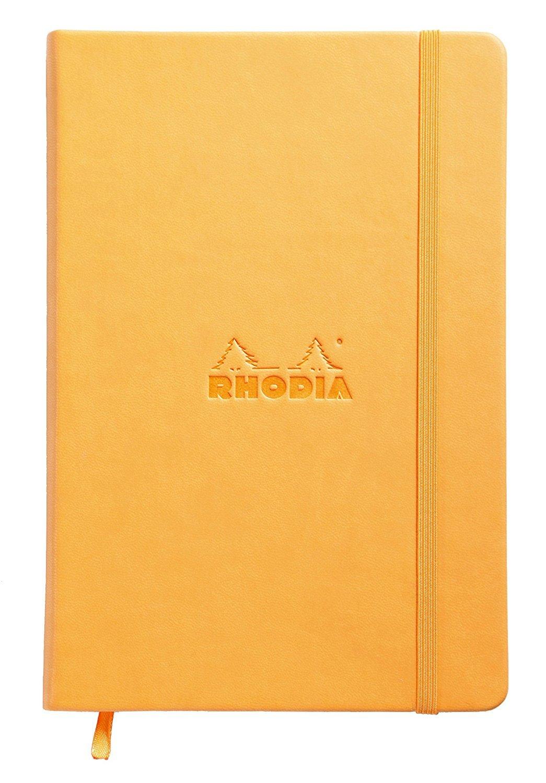 Rhodia Webnotebook Webbies - Dot Grid 96 sheets - 5 1/2 x 8 1/4 - Orange Cover by Rhodia