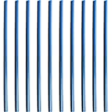 X AUTOHAUX 10pcs Blue Chrome Car Air Condition Outlet Vent Grille Rim Moulding Trim Strip