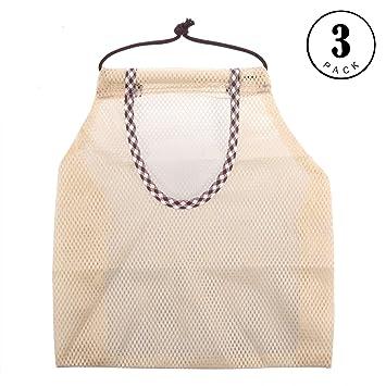 Bolsa de almacenamiento de cebolla, 3 piezas reutilizable ...