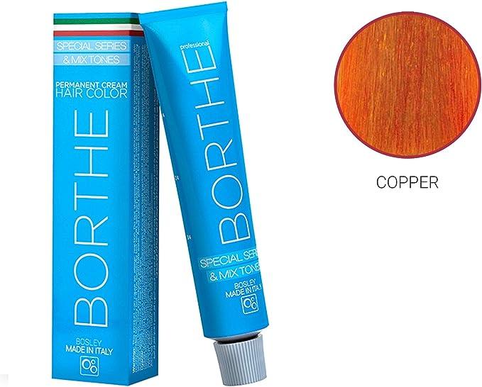 Tinte permanente de color crema para cabello de Borthe – sólo para uso profesional – fabricado en Italia – 60 ml