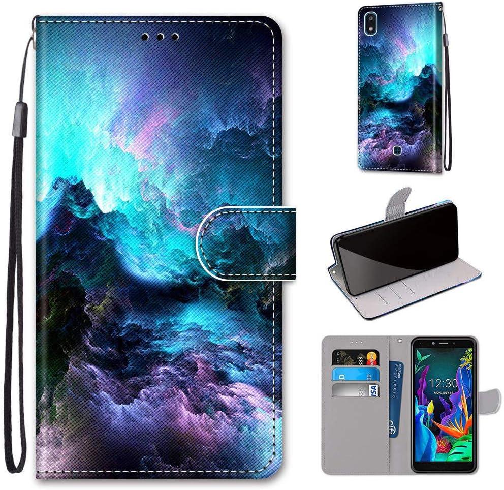 DOKTU100528 Blau Docrax LG K20 2019 Handyh/ülle H/ülle Leder Case mit Standfunktion Magnetverschluss Flipcase Klapph/ülle kompatibel mit LG K20