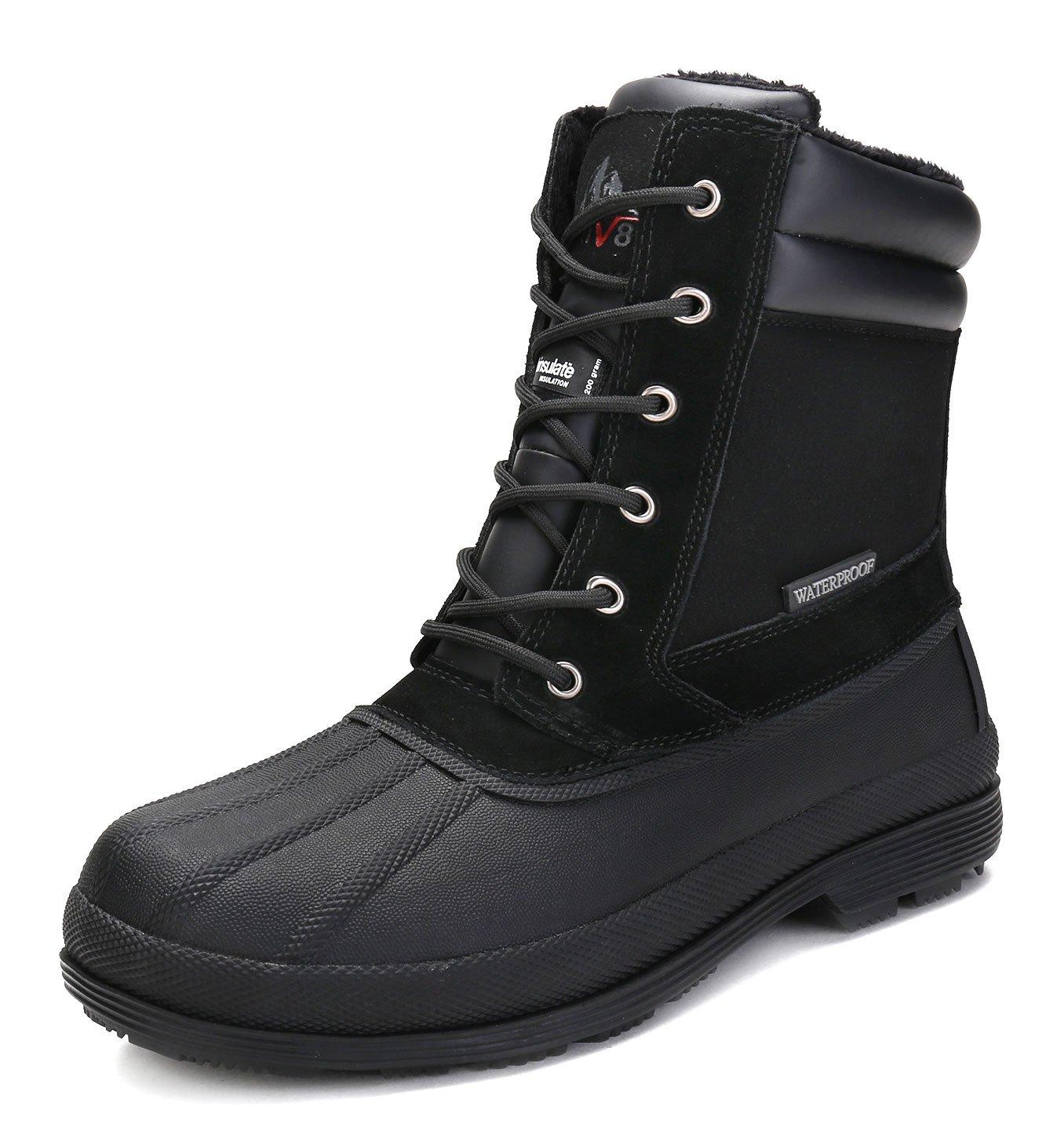 arctiv8 Men's nortiv8 170391-M Black Insulated Waterproof Work Snow Boots Size 14 M US