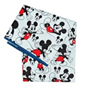 Bumkins Splat Floor Mat for Highchairs (Waterproof), Disney, Mickey Classic