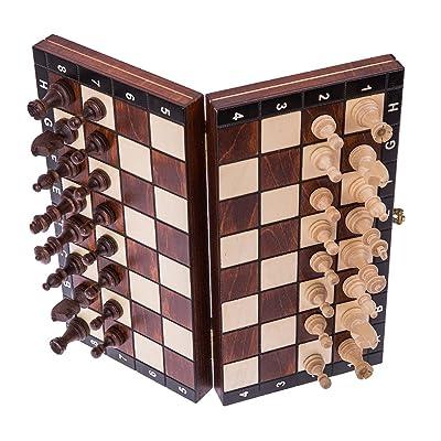 SQUARE - Echecs en bois - MAGNETIQUE - Échiquier & Pièces d'échecs