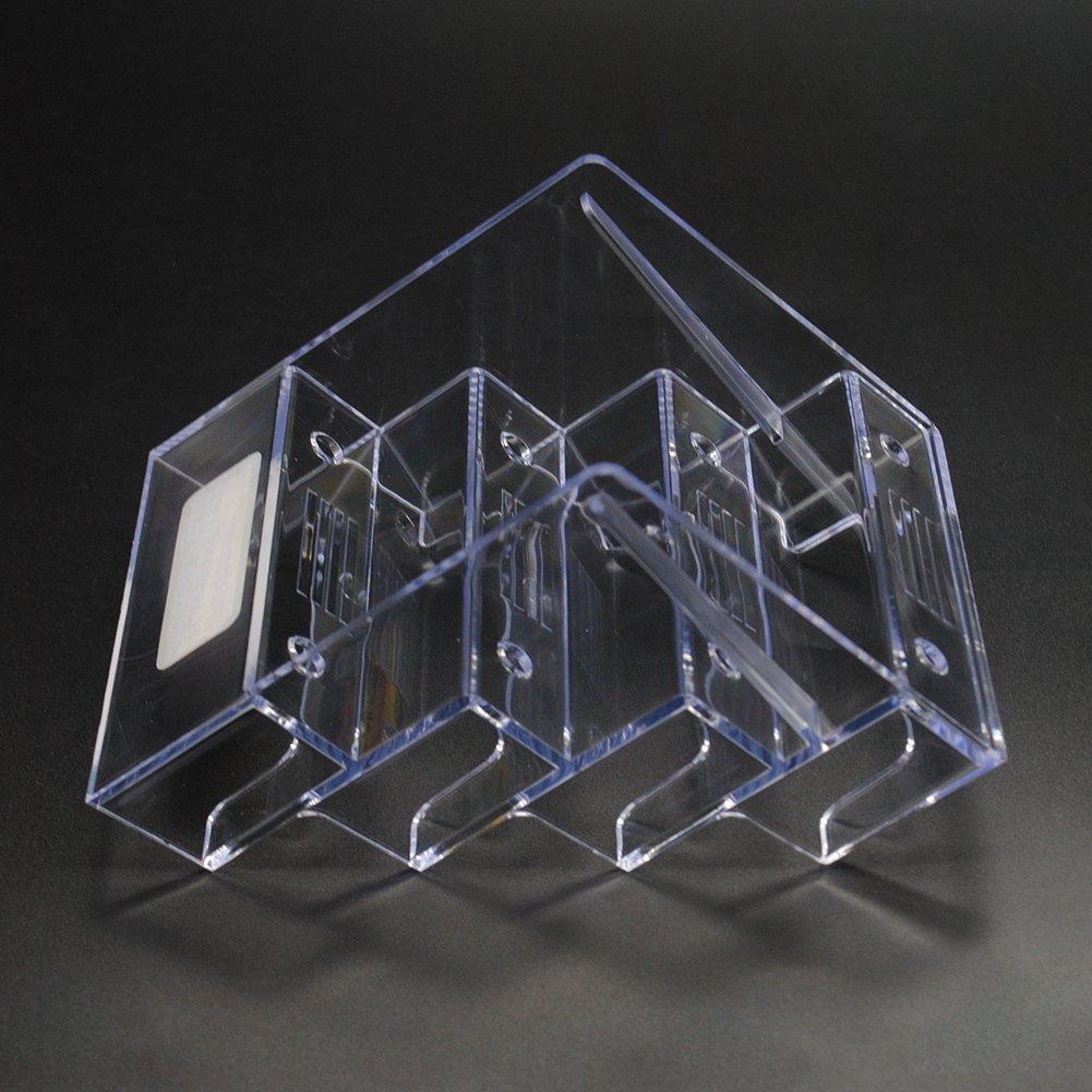 9 x 8.5 x 10cm Ainstsk 4 Bolsillos 9 x 8,5 x 10 cm acr/ílico Transparente Mesa Escritorio Tarjeta de Negocio Soporte Caja Show Multi-Nivel de Literatura Soporte de Pantalla para Pared o Escritorio
