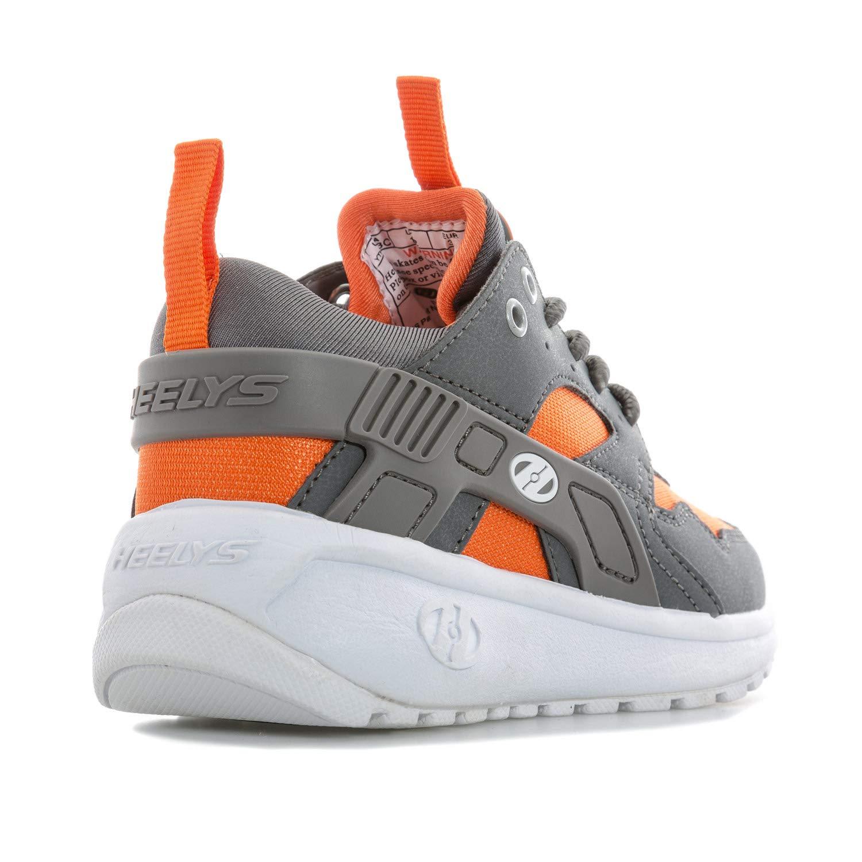 Heelys Boy's Force (Little Kid/Big Kid/Adult) Dark Grey/Grey/Orange 3 M US Little Kid M by Heelys (Image #3)