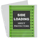C-Line Side Loading Heavyweight Poly Sheet Protectors, Clear, 8.5 x 11 Inches, 50 per Box (62313)