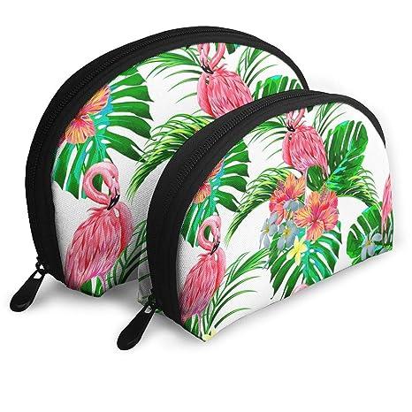 47b2df18f208 Amazon.com: SJ104B 2 PCS Hawaiian Pink Flamingos Pattern Toiletry ...