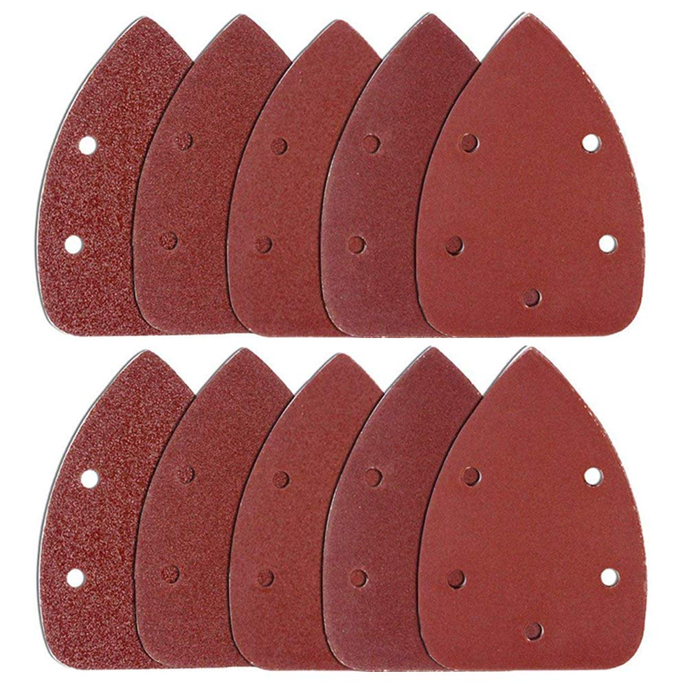 Coceca 120PCS Mouse Detail Sander Sandpaper Sanding Paper Assorted 40 60 80 120 180 240 Grits