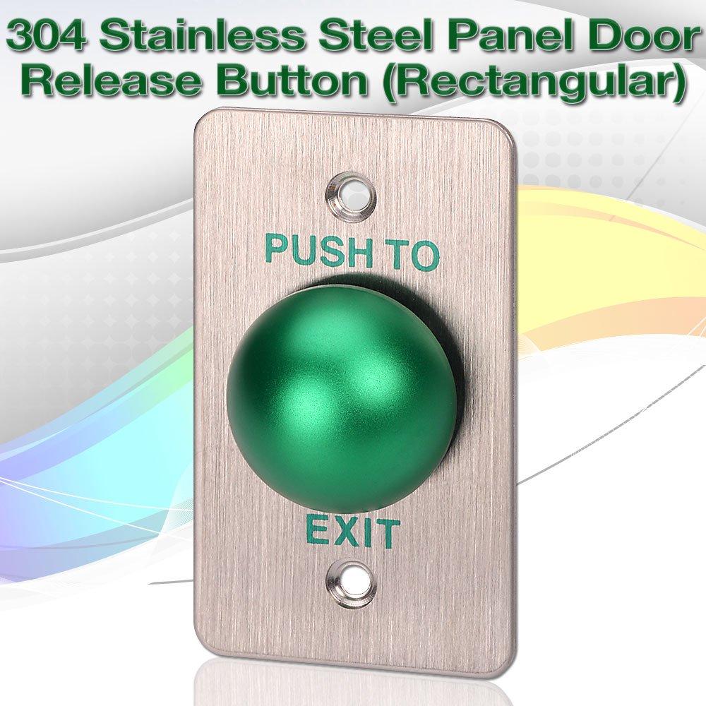 Aluminio acero salida interruptor de bot/ón Push soltad prensa salida para Control de acceso sistema Rectangular