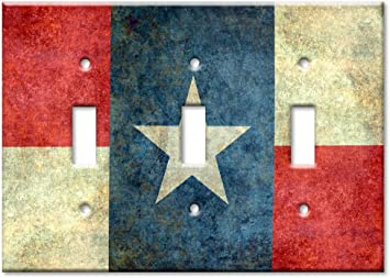 Art Plates Texas Flag Double Gang Toggle OVERSIZE Switch//OVER SIZE Wall Plate