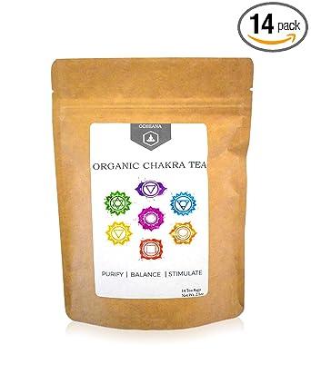 Chakra Tea By ODHIANA - Chakra-Colored Tisane | Chakra Detox | Organic | Chakra Balance Tea | All 7 Chakras | Meditation | Yoga | | Reiki Infused
