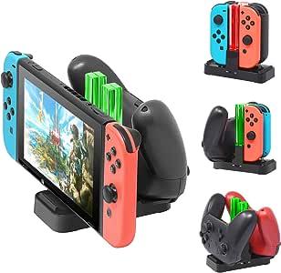 Nueva versión] Cargador para Nintendo Switch Pro Controllers y Joy ...