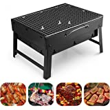 Uten Barbecue Charcoal Grill Folding Portable Lightweight BBQ Tools for Outdoor Cooking Camping Hiking Picnics Tailgating Backpacking (Small)