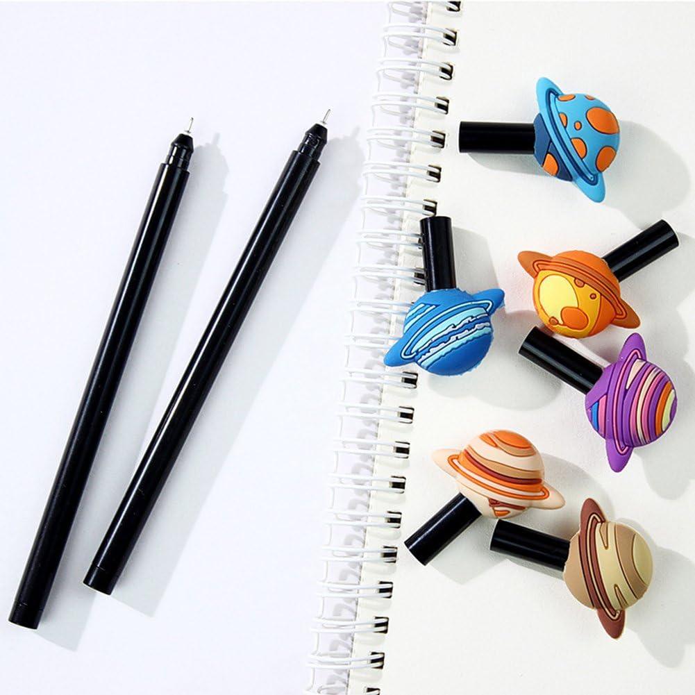 Fablcrew Stylo /à bille fantaisie Planet Stylo /à encre gel stylos /à bille /école bureau papeterie Fournitures 6/pcs