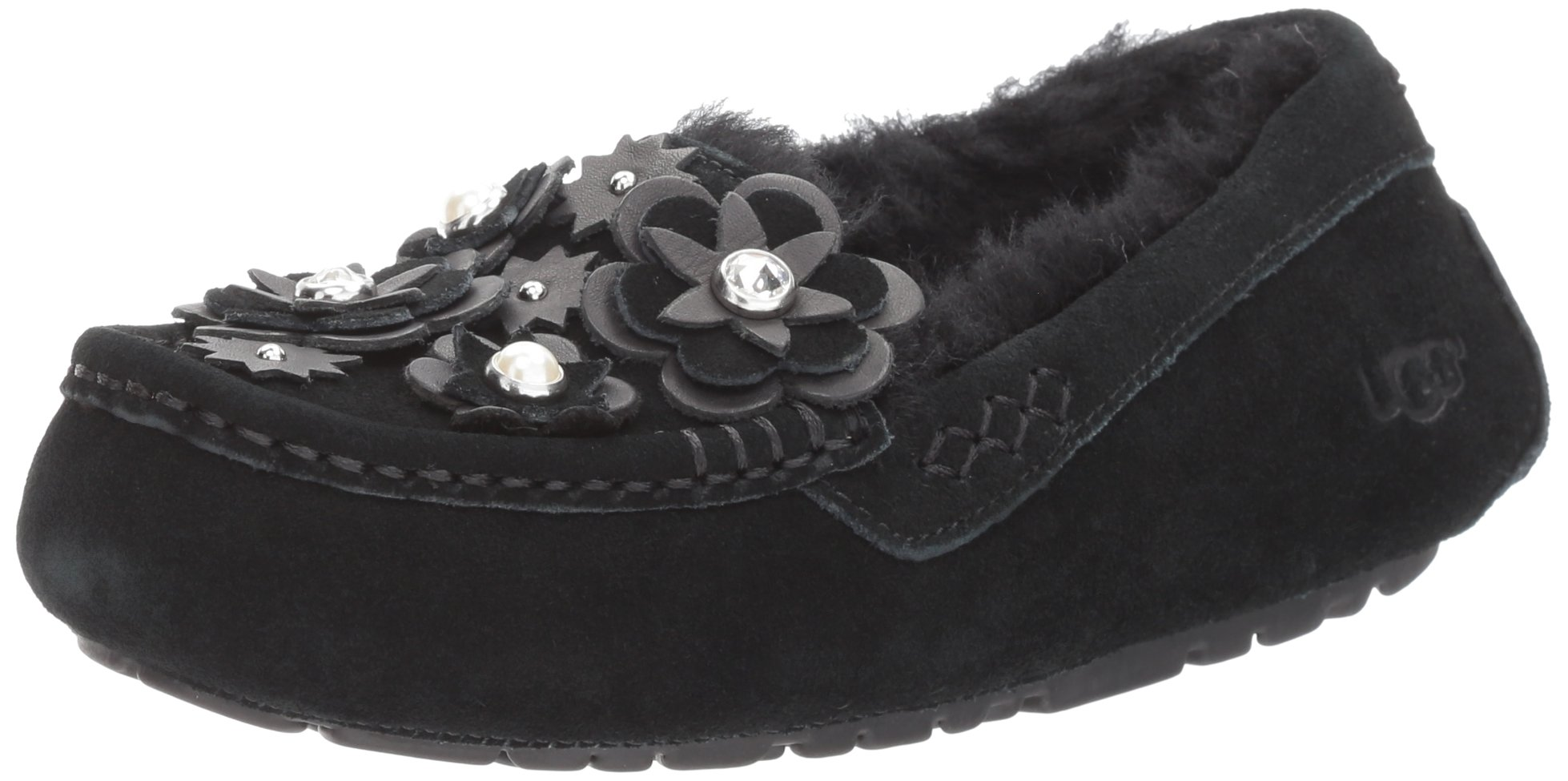 UGG Women's Ansley Petal Slipper, Black, 8 M US