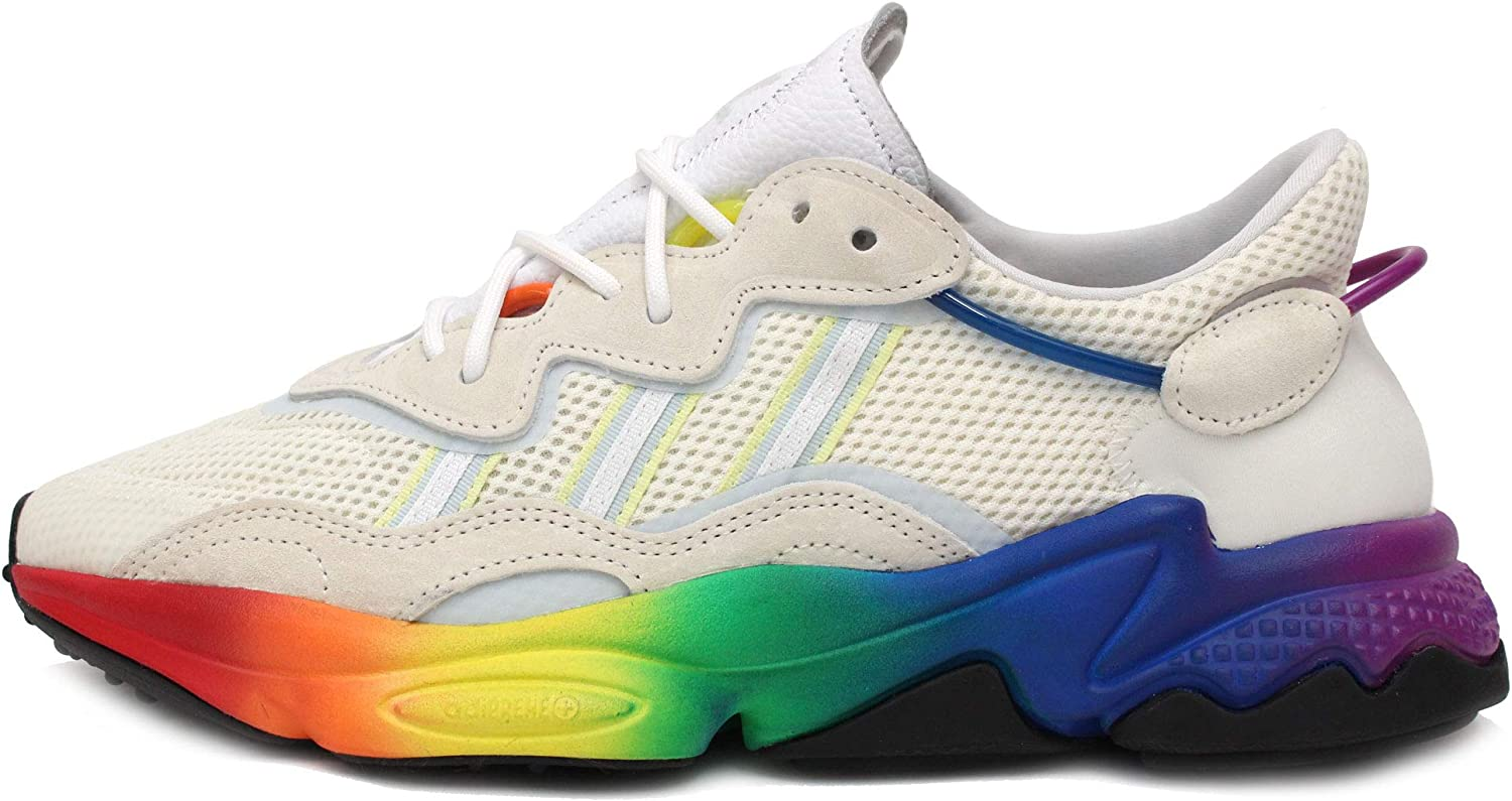 Amazon.com | adidas Ozweego Pride Mens in Off White/Blue ...