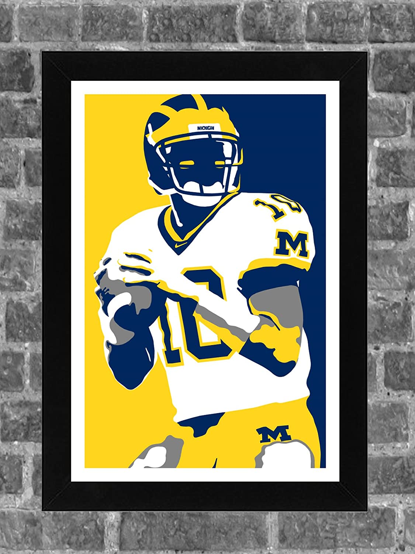 Michigan Wolverines Tom Brady Portrait Sports Print Art 11x17 FanFourLife