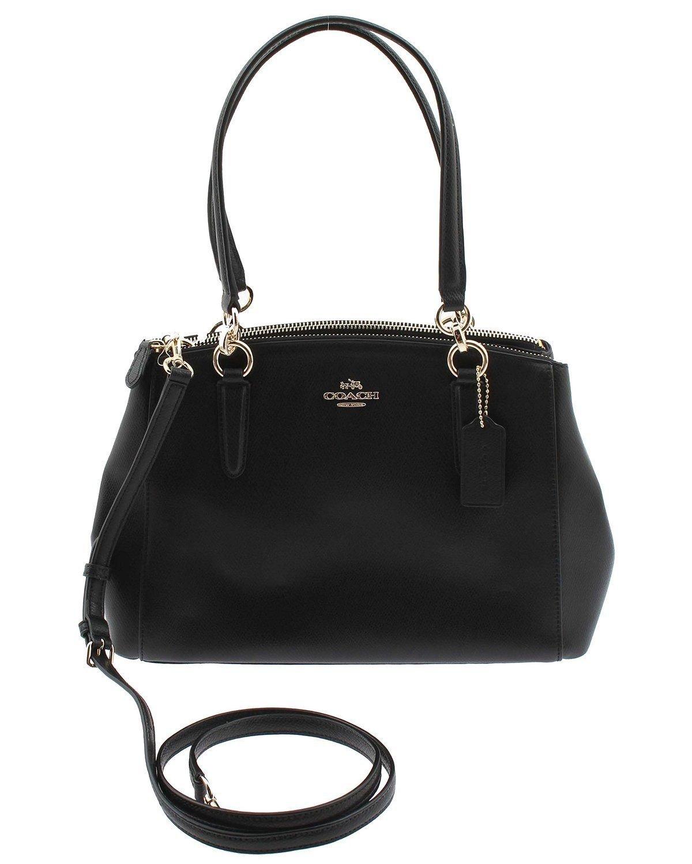 COACH Crossgrain Leather Christie Carryall Shoulder Bag Handbag Black 36606 by Coach (Image #1)