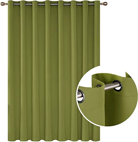 Deconovo Blackout Grommet Top Drapes Girls Room Wide Width Curtains