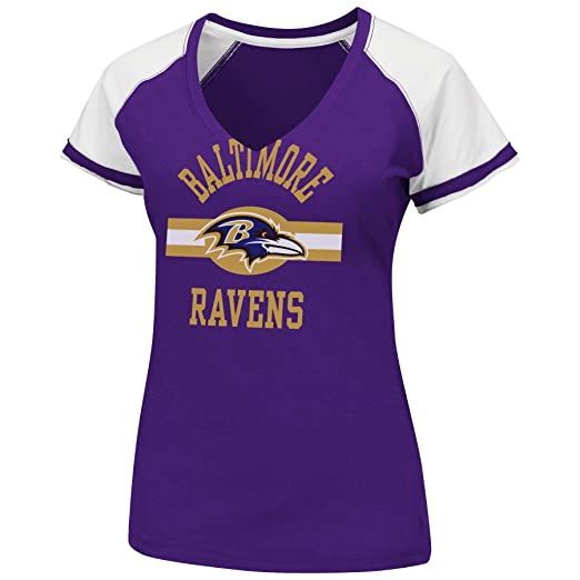 d513fe09 Amazon.com : Women's NFL V-Neck Tee : Sports Fan T Shirts : Clothing