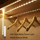 Amagle Flexible 3.28ft 4000K Natural White Dual Mode LED Strip Light, Motion Sensor Activated, Lighting for Kitchen, Drawer, Stairs