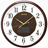 SEIKO CLOCK (セイコークロック) 掛け時計 ハイブリッドソーラー 電波 アナログ 茶メタリック SF241B