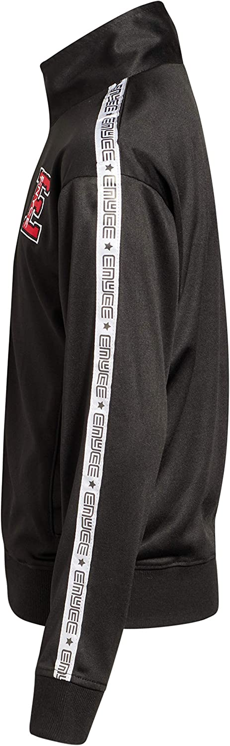 Size 16//18 All Black Enyce Boys 2-Piece Performance Tracksuit Set with Zip-Up Jacket and Jog Pants