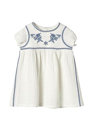 7367245c4e69 Cyrillus Baby-Kleid, Bestickt 71 Weiß  Amazon.de  Bekleidung