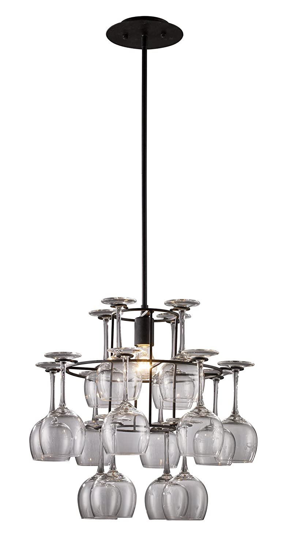 Elk 140401 vintage 1 light chandelier in dark rust with 16 wine elk 140401 vintage 1 light chandelier in dark rust with 16 wine glasses amazon mozeypictures Choice Image