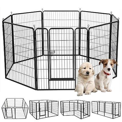 Amazon Yaheetech 39 H 8 Panel Portable Metal Fence Folding