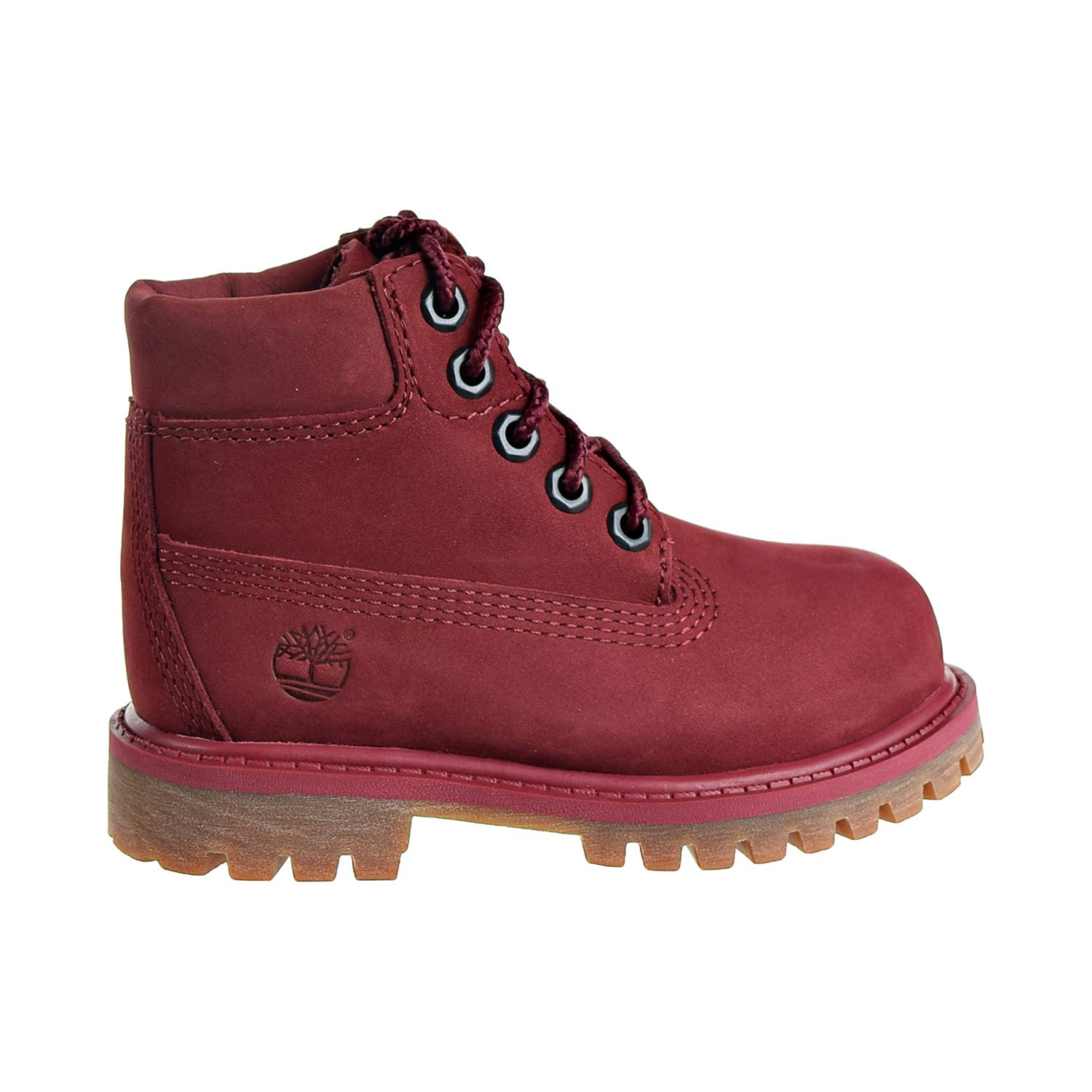 Timberland Premium 6'' Waterproof Boot Toddler's Shoes Burgundy tb0a1vgc (4 M US)